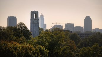 Skyline view of Raleigh