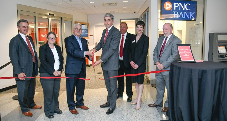 PNC Ribbon Cutting in Talley Student Union