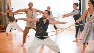 Black Box Dance Theatre dancers rehearse for their Applied Dance + Inspired Mathematics performance