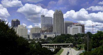 The downtown Raleigh skyline.