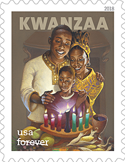 The 2018 Kwanzaa stamp from the U.S. Postal Service.