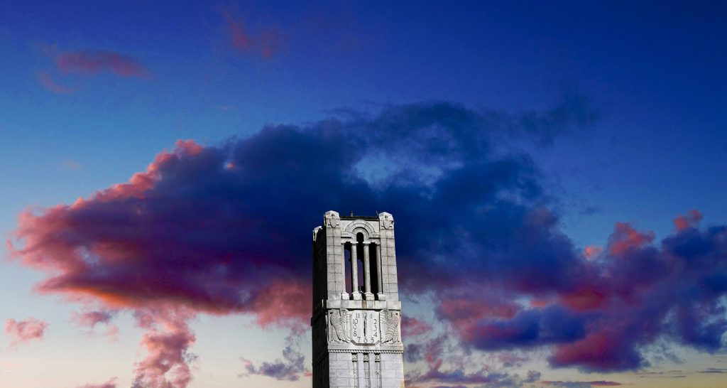 The Belltower at sunset.