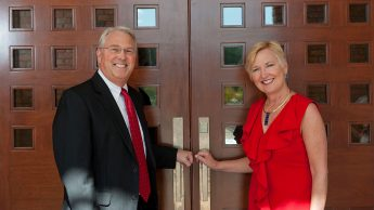 NC State Chancellor Randy Woodson and his wife Susan