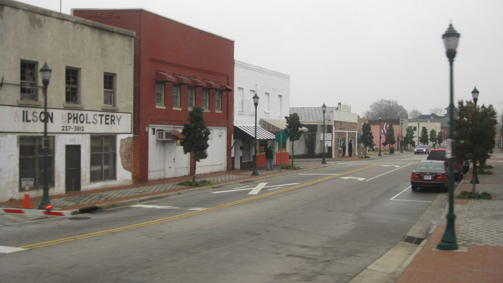 empty street of small town