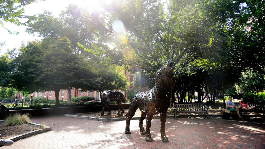 NC State's Wolf Plaza