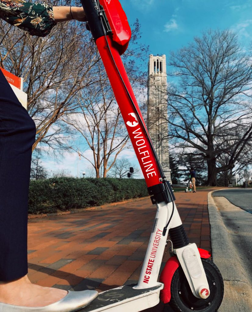 Wolfline rideshare scooter for April Fools'