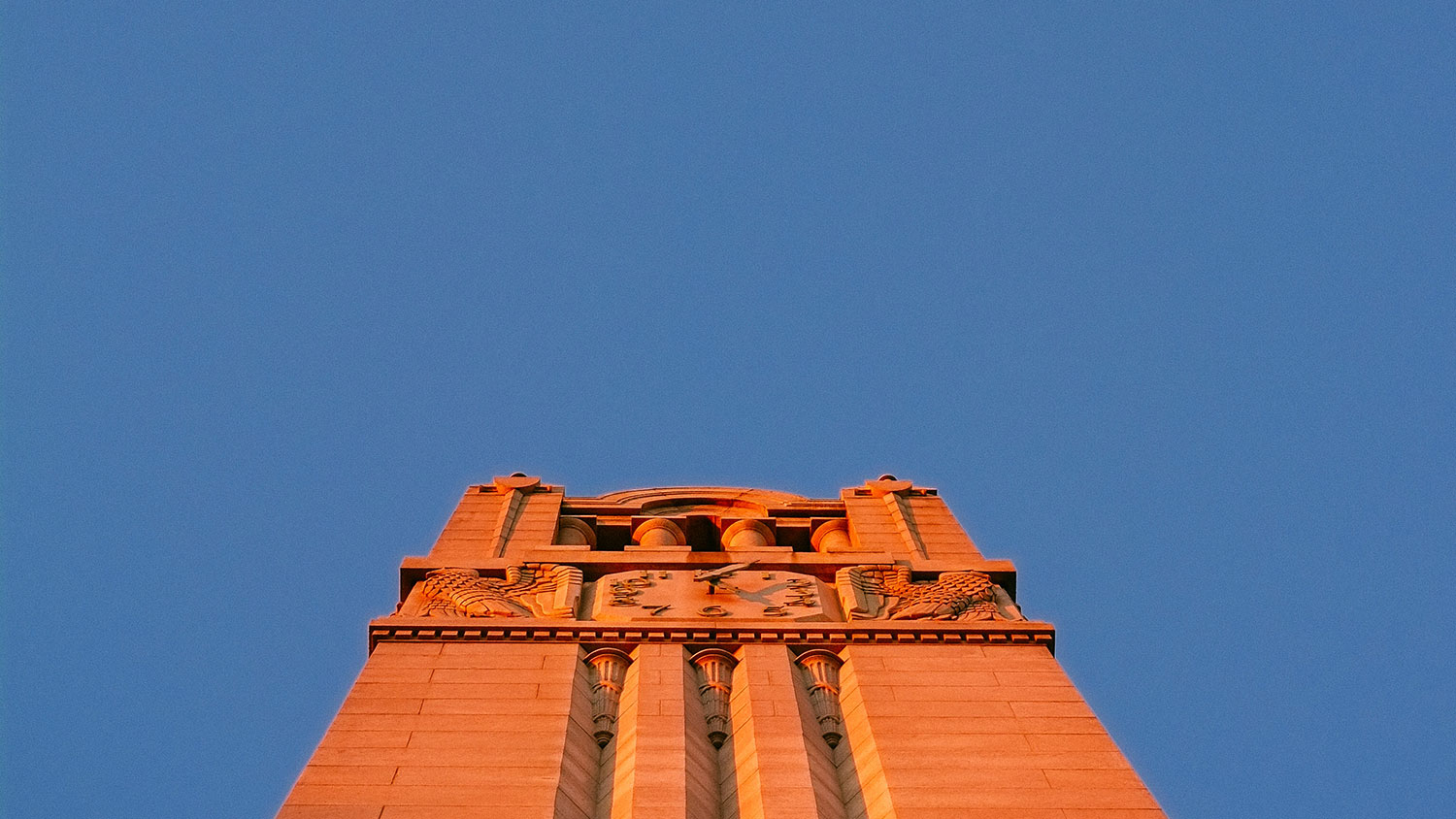 NC State Belltower at sunset