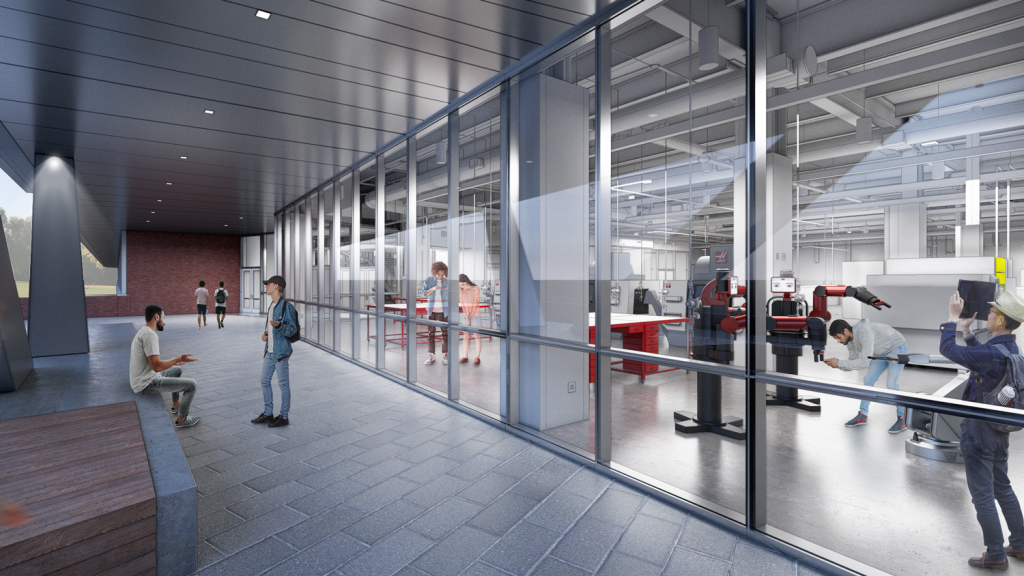 A rendering of a new lab in Fitts-Woolard Hall, located on NC State's Centennial Campus.