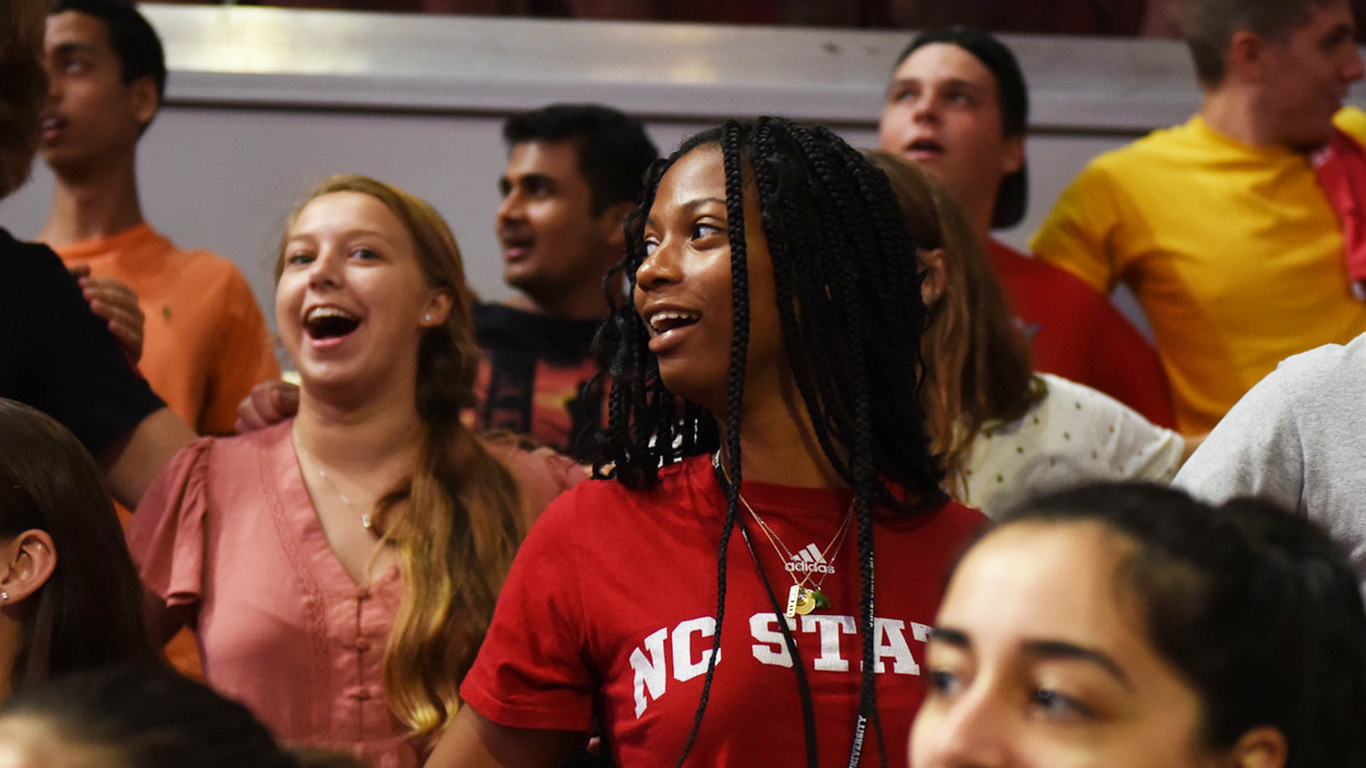 Students sing at convocation in 2019.