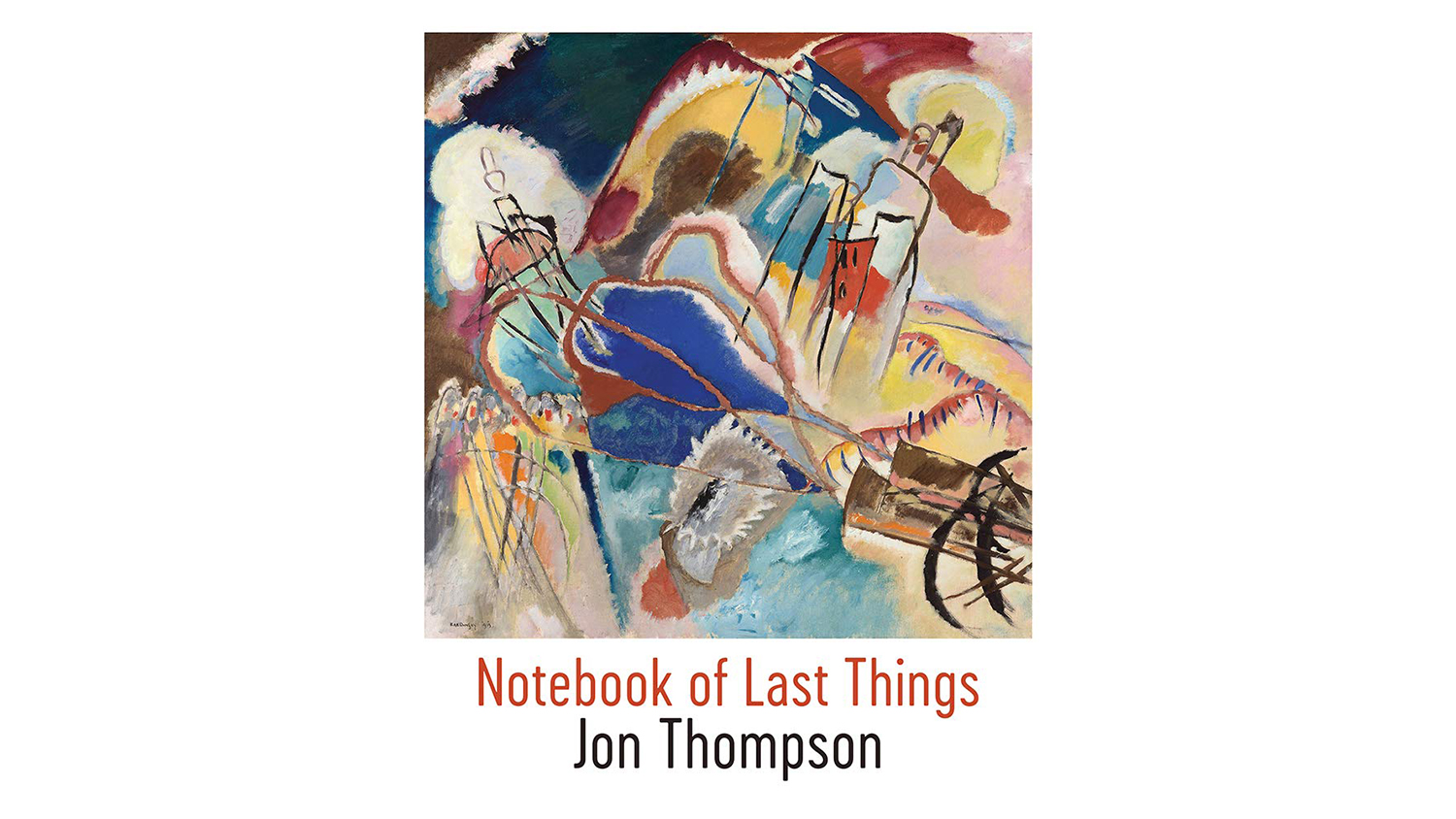 abstract cover art of jon thompson's new book of poetry
