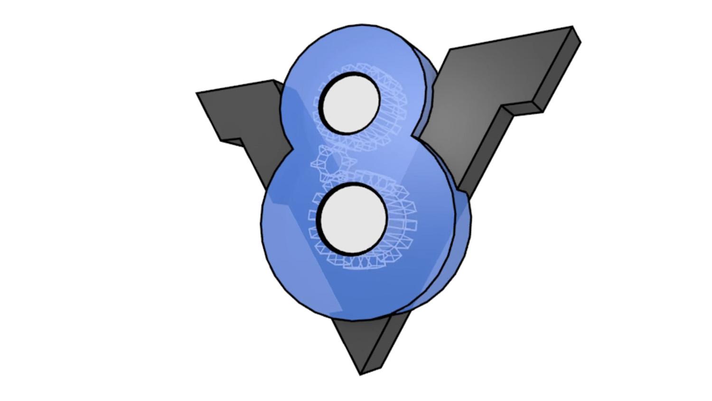 visible v8 logo