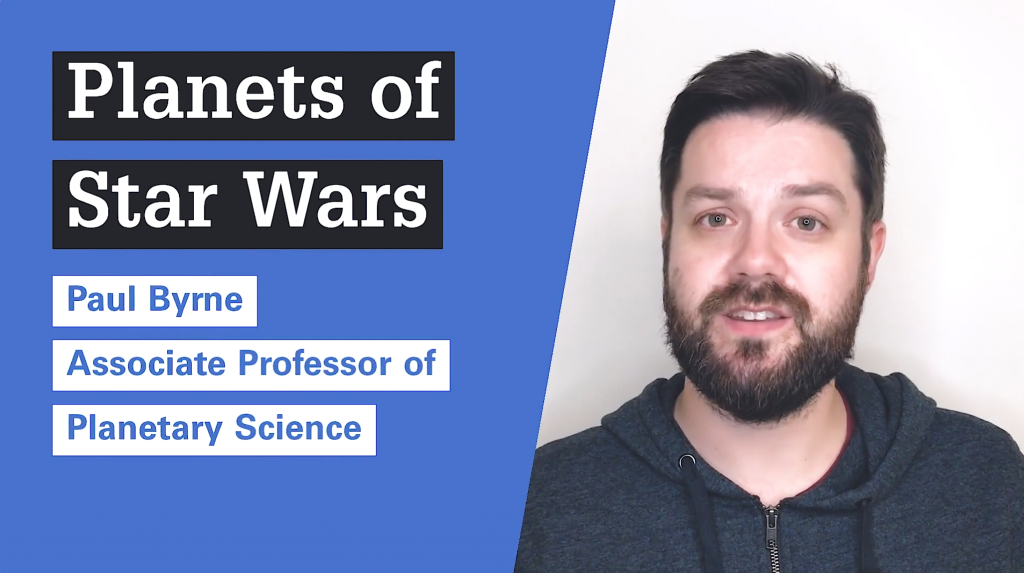 NC State College of Sciences professor Paul Byrne answers questions about the planets in Star Wars.