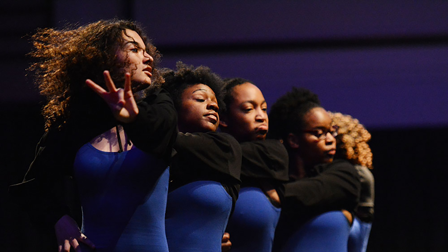 Members of the Sigma Gamma Rho sorority perform at the Pan-Afrikan Stroll-Off, hosted by the National Pan-Hellenic Council, on Saturday, April 13 at Talley Student Union.