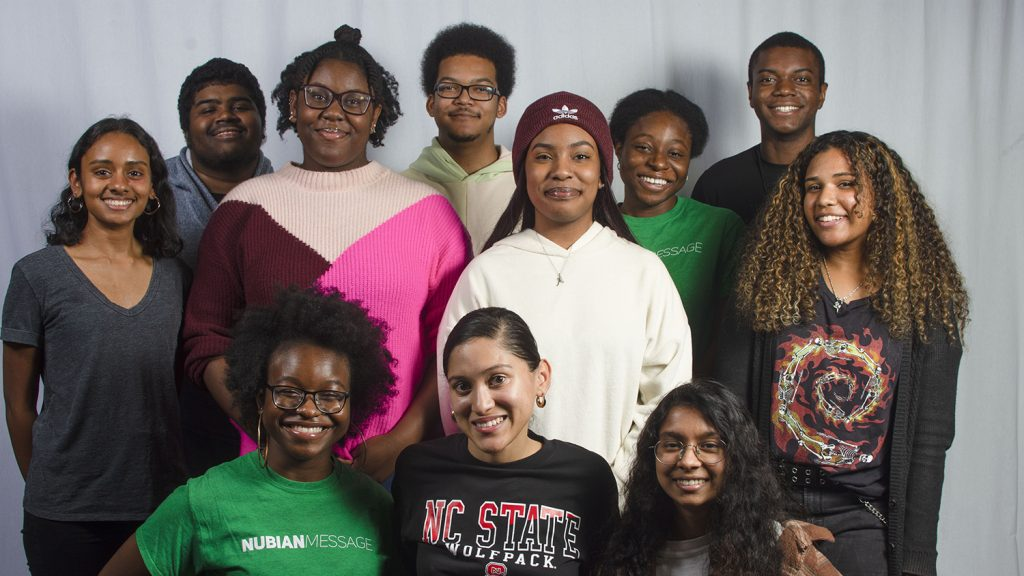 A group photo of the Nubian Message staff for 2020.