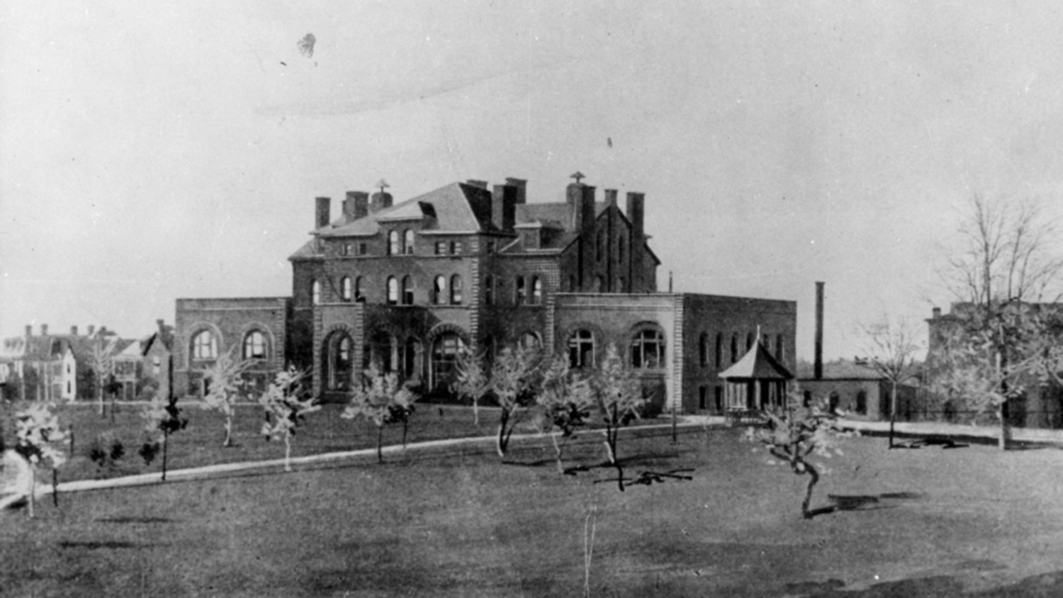 1890 photo of Holladay Hall.