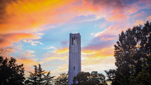 NCState Belltower at sunset