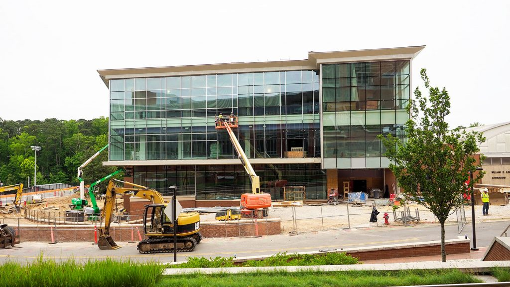NC State's new Wellness and Recreation Center under construction.