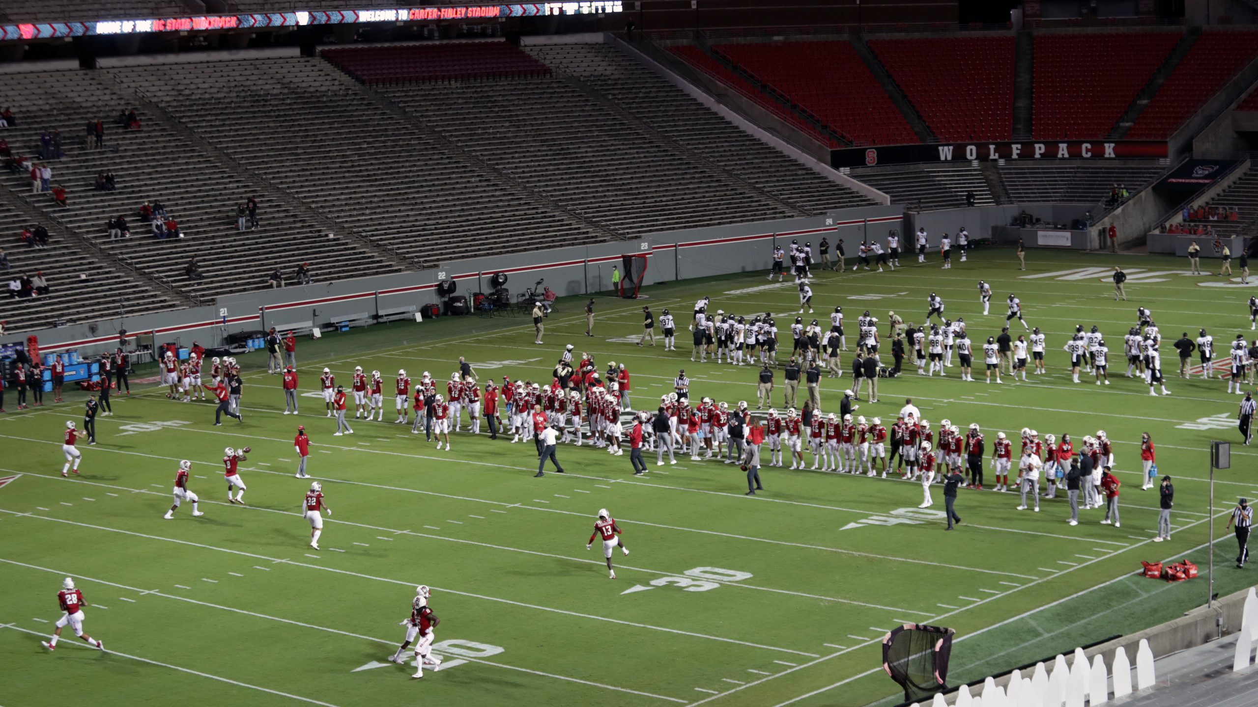 NC State and Wake Forest prepare to play Saturday at a mostly empty Carter-Finley Stadium.
