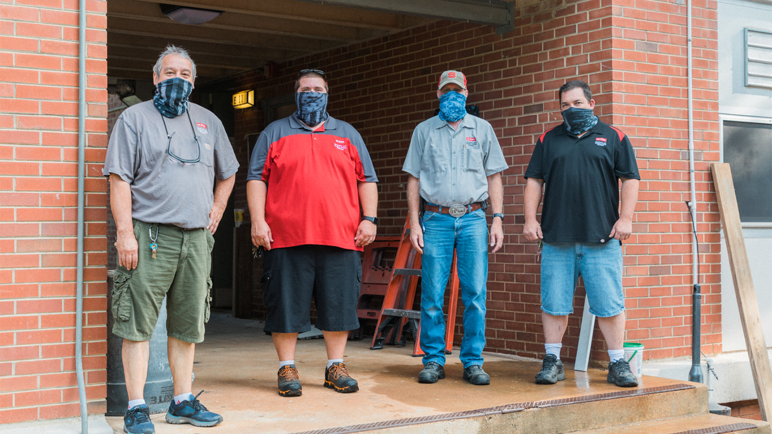 DASA Facilities staff members: James Carpenter, Dale Lefler, Ray Corbett, and Vladimir Wall