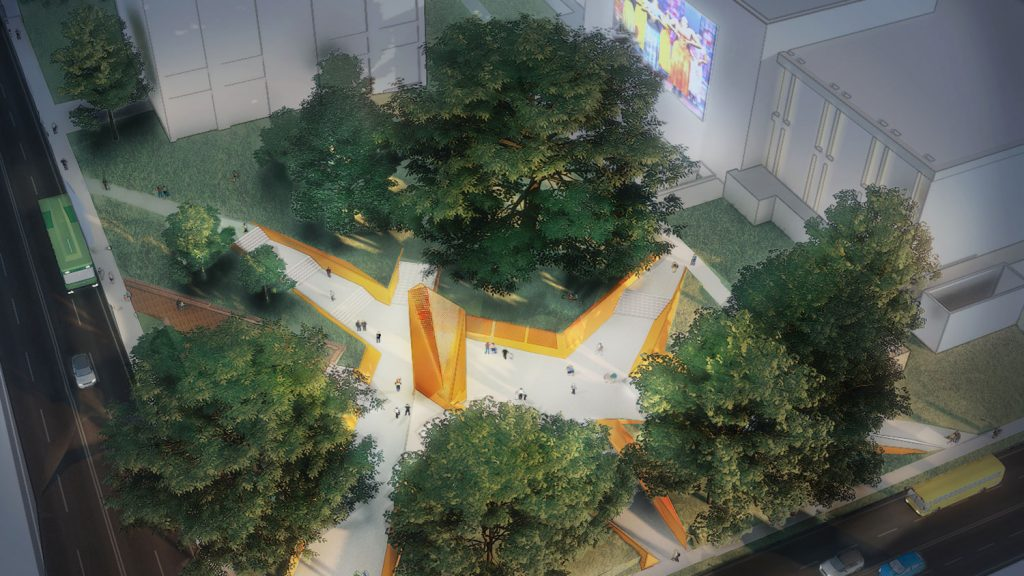 aerial rendering of the North Carolina Freedom Park