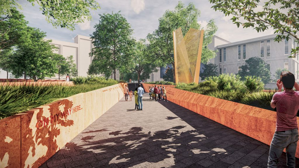 rendering of Freedom Park in Raleigh