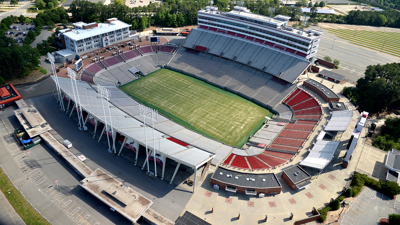 Overhead view of stadium