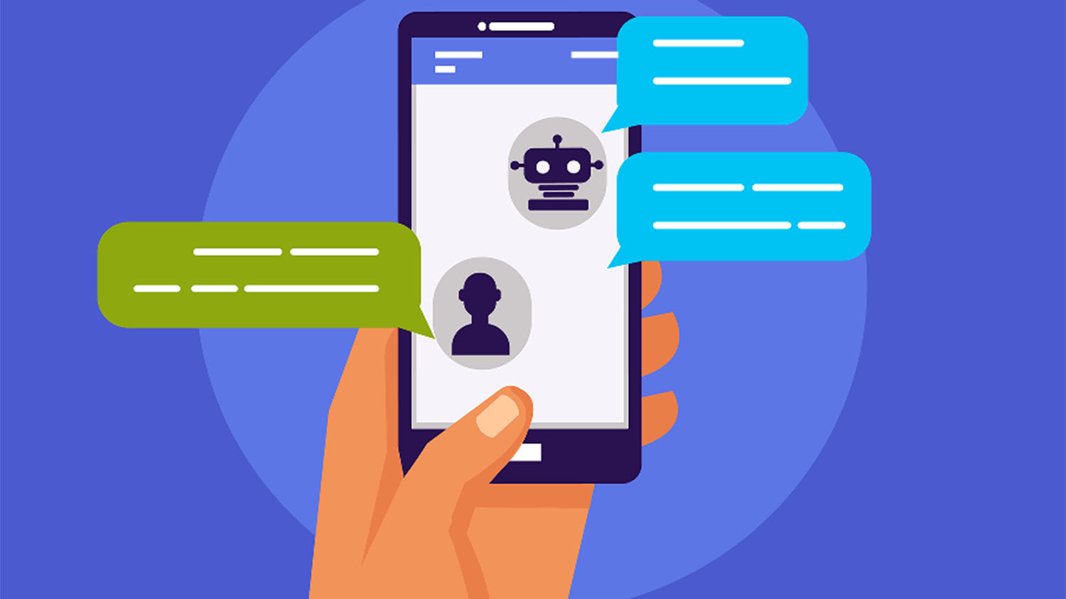 illustration of chatbot interaction