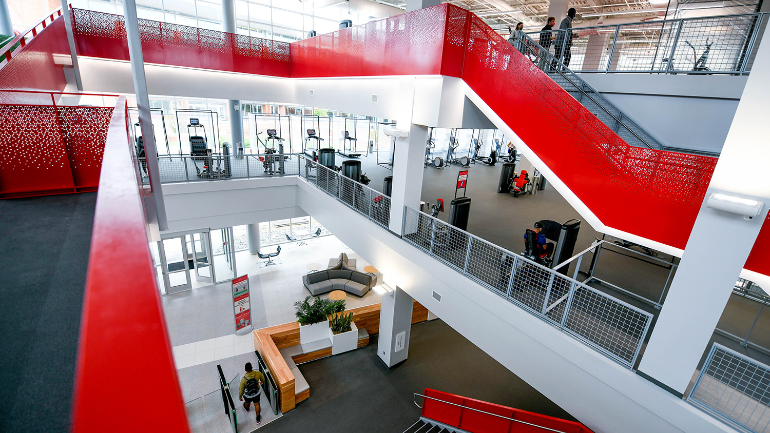 Students explored the Wellness and Recreation Center, which opened on Oct. 26.