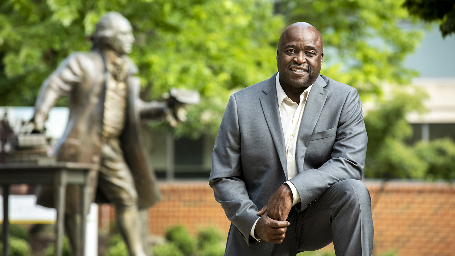 Gregory Washington on the campus of George Mason University.