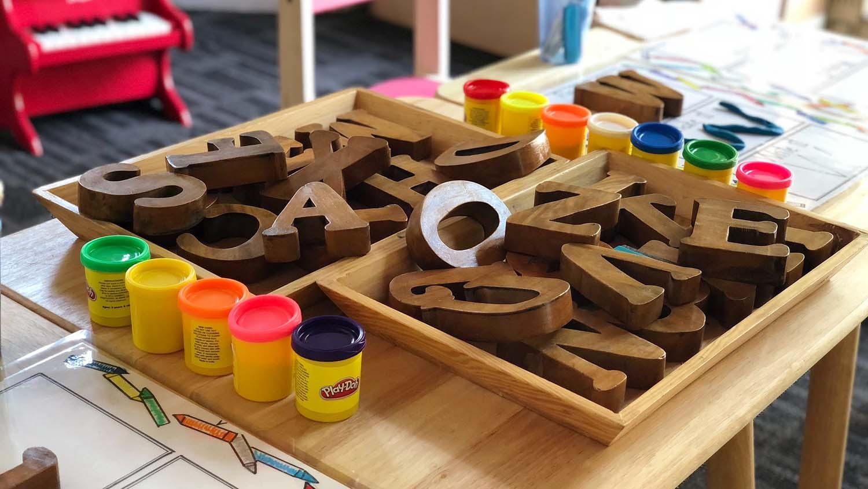 educational toys in a preschool classroom