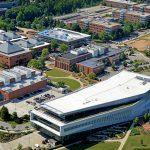 An aerial view of our Centennial Campus.