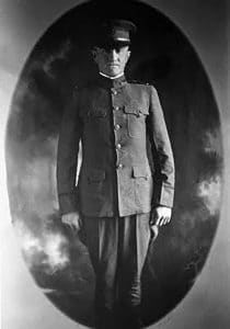 Thompson in his Army uniform.