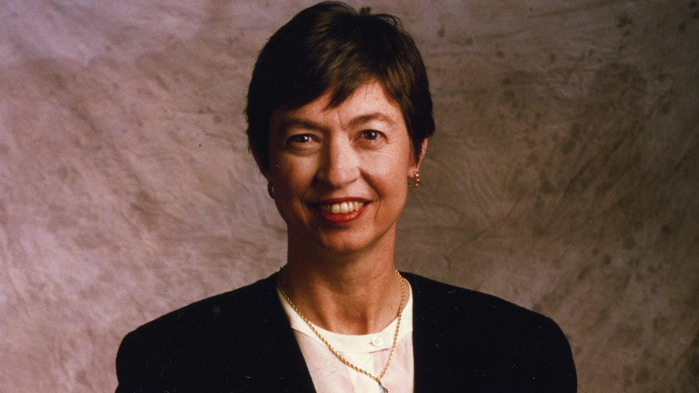 Headshot portrait of Marye Anne Fox.