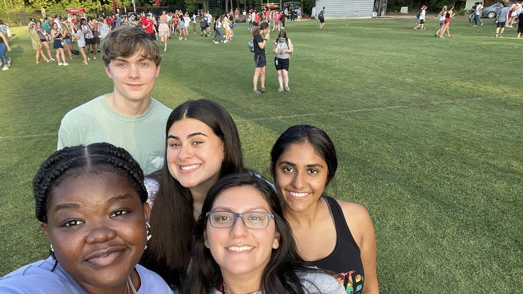 Five students, including Faduma Osman at NCState's RecFest event
