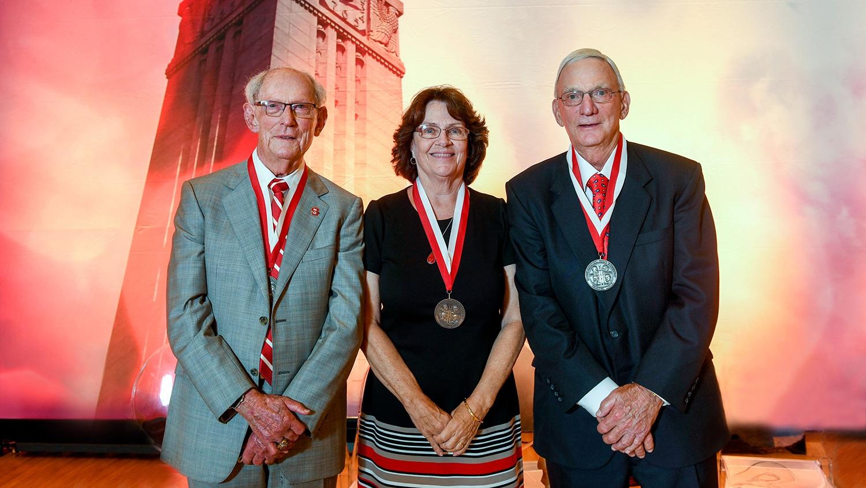 The 2021 Watauga Medal winners (left to right) are Bob Mattocks, Suzanne Gordon and Glenn Futrell