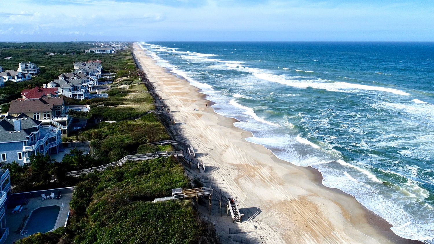 The coast of North Carolina's Corolla Beach in the Outer Banks